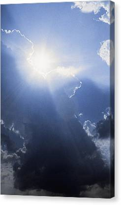 Blue Sky And Sunbeams Canvas Print by Gillham Studios