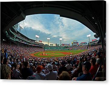 Blue Sky Over Fenway Park Fisheye Canvas Print by Toby McGuire