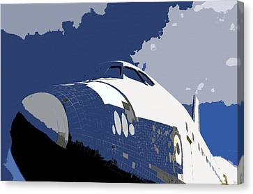 Blue Sky Shuttle Canvas Print by David Lee Thompson