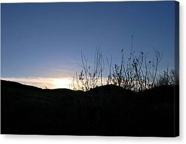 Canvas Print featuring the photograph Blue Sky Silhouette Landscape by Matt Harang