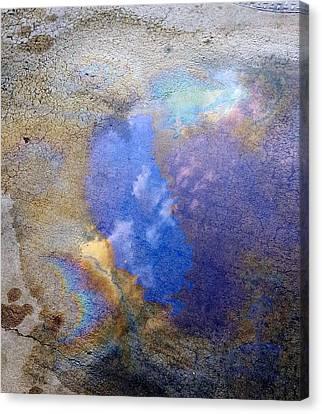 Blue Sky Slick Canvas Print