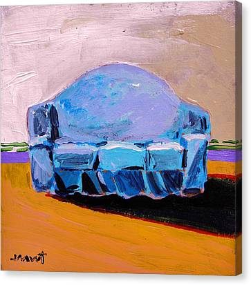 Canvas Print featuring the painting Blue Slipcover by John Williams