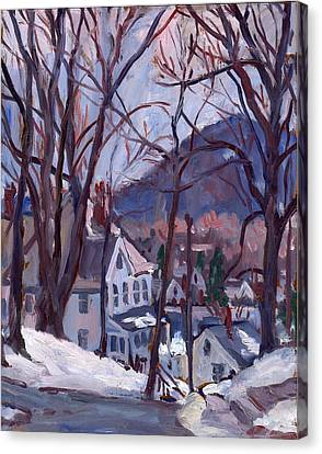 Daily Painter Canvas Print - Blue Snow by Thor Wickstrom