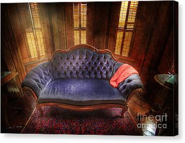 Blue Sofa Den Canvas Print by Craig J Satterlee