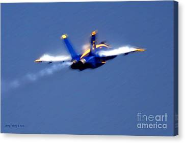 Canvas Print featuring the photograph Blue Solo by Larry Keahey