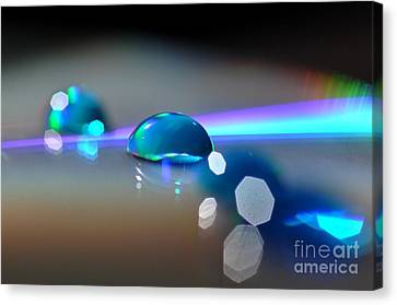 Canvas Print featuring the photograph Blue Sparks by Sylvie Leandre