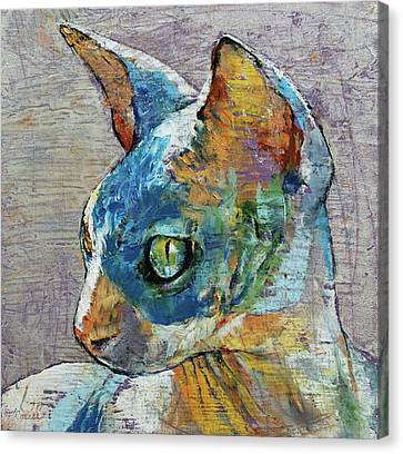Blue Sphynx Canvas Print by Michael Creese