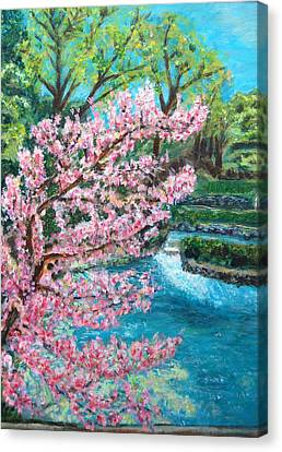 Blue Spring Canvas Print by Carolyn Donnell