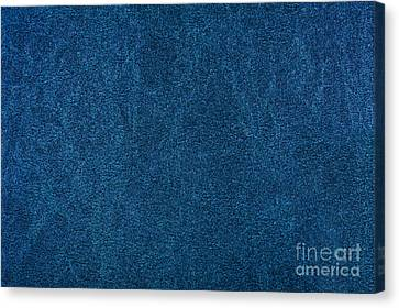 Blue Stained Cardboard Texture Canvas Print by Arletta Cwalina