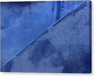 Canvas Print featuring the photograph Blue Stairs In Profile by Ramona Johnston