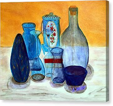 Blue Still Life Canvas Print