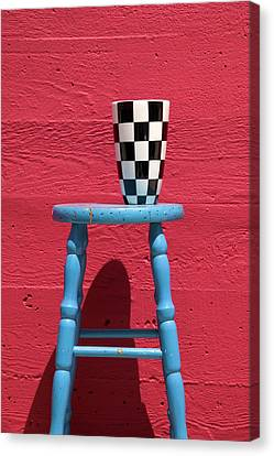 Blue Stool Canvas Print by Garry Gay