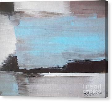 Blue Streak Canvas Print by Marsha Heiken