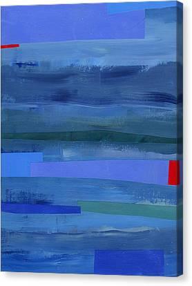 Blue Stripes 1 Canvas Print by Jane Davies