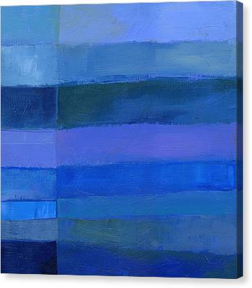 Blue Stripes 2 Canvas Print