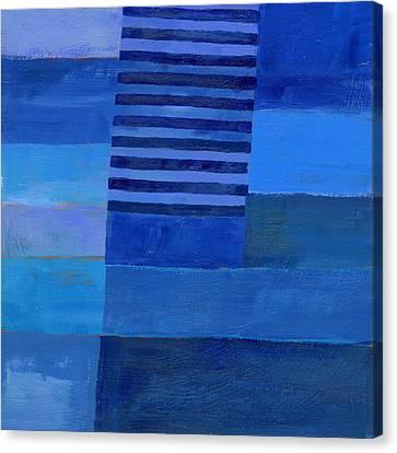 Blue Stripes 7 Canvas Print