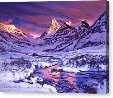 Blue Sunrise Canvas Print by David Lloyd Glover