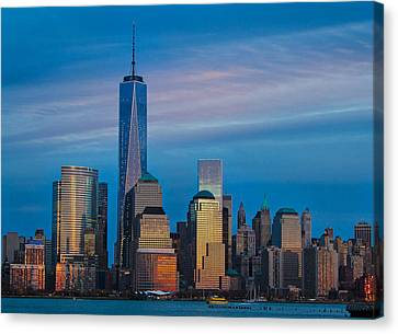 Blue Sunset At The World Trade Center Canvas Print