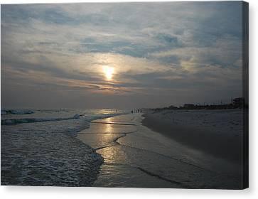Blue Sunset Canvas Print by Beverly Hammond