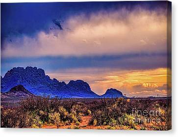 Blue Sunset Nm-az Canvas Print by Diana Mary Sharpton