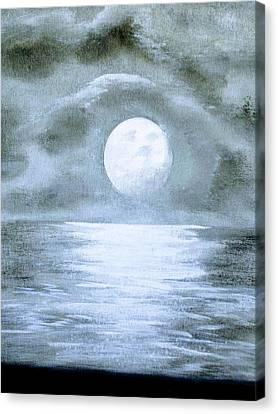 Blue Super Moon Canvas Print