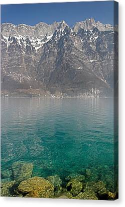 Blue Swiss Lagoon Canvas Print by Pierre Leclerc Photography