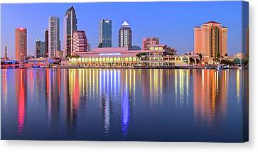 Devil Ray Canvas Print - Blue Tampa Bay by Frozen in Time Fine Art Photography
