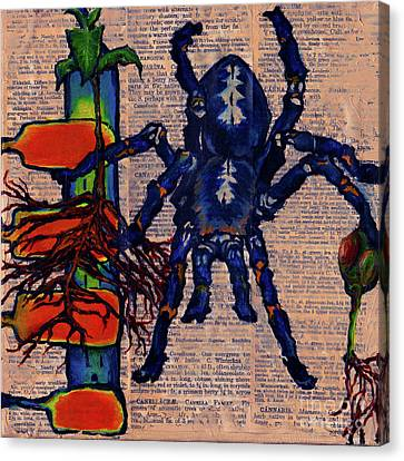 Blue Tarantula Canvas Print by Emily McLaughlin