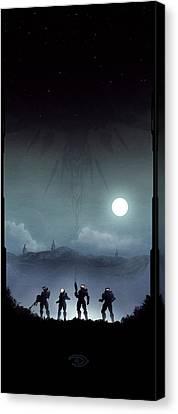 Blue Team Canvas Print by Colin Morella