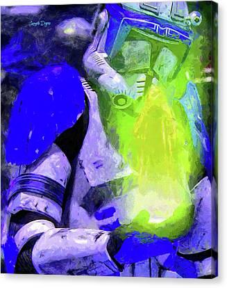 Blue Team Commander Receiving Order 66 Canvas Print by Leonardo Digenio