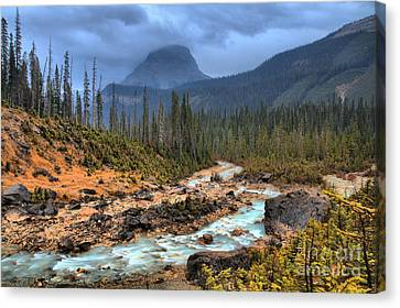 Canvas Print featuring the photograph Blue Through The Yoho Valley by Adam Jewell