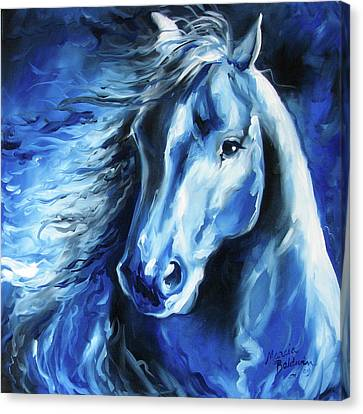 Canvas Print - Blue Thunder  by Marcia Baldwin