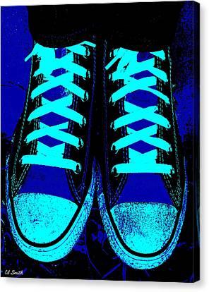 Blue-tiful Canvas Print by Ed Smith