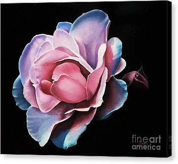 Blue Tipped Rose Canvas Print by Jimmie Bartlett