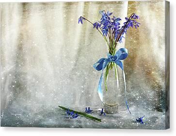 Blue Tones Of Simplicity Canvas Print by Randi Grace Nilsberg