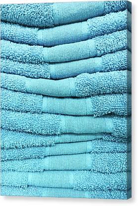 Blue Towels Canvas Print by Tom Gowanlock