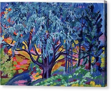 Blue Tree Far Country Canvas Print