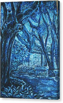 Blue Trees Canvas Print by Patricia Gomez