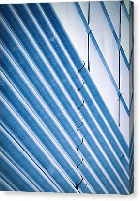 Blue Two Types Of Metal Wall Canvas Print by Jozef Jankola
