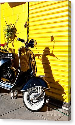 Blue Vespa Canvas Print
