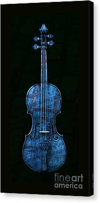 Blue Violin Canvas Print by John Stephens