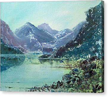 Blue Vista Two Canvas Print by Richard James Digance