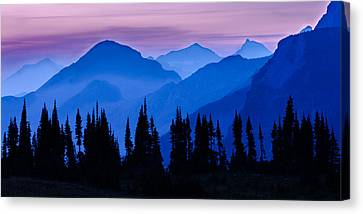 Blue Wall Canvas Print by Mike Lang
