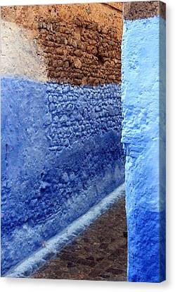 Canvas Print featuring the photograph Blue Walls Of Chefchaouen by Ramona Johnston