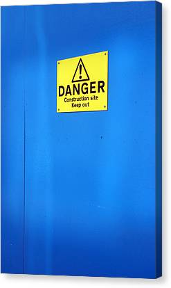 Blue Warning 2 Canvas Print by Jez C Self