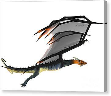 Blue Wasp Dragon Canvas Print