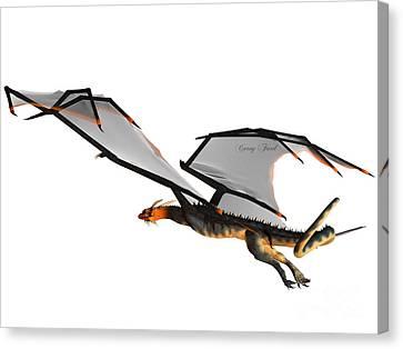 Blue Wasp Dragon Flight Canvas Print