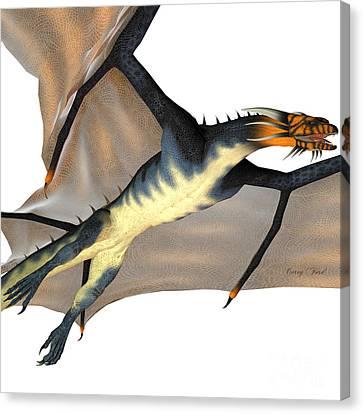 Blue Wasp Dragon Reign Canvas Print