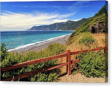 Canvas Print featuring the photograph Blue Waters Of The Lost Coast by James Eddy