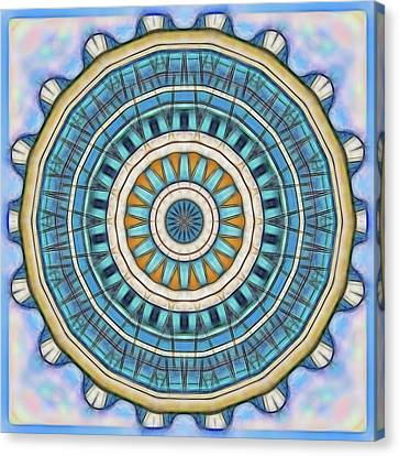 Canvas Print featuring the digital art Blue Wheeler 1 by Wendy J St Christopher
